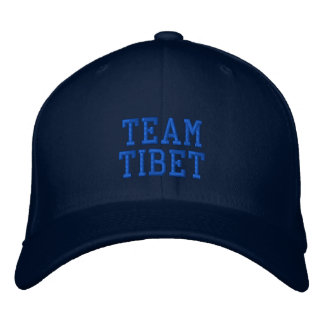 Casquillo bordado Tíbet azul de las lanas del equi Gorro Bordado