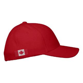 Casquillo canadiense de la bandera gorra de béisbol bordada