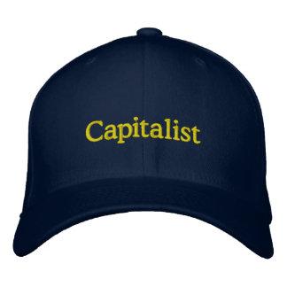 Casquillo capitalista gorras bordadas