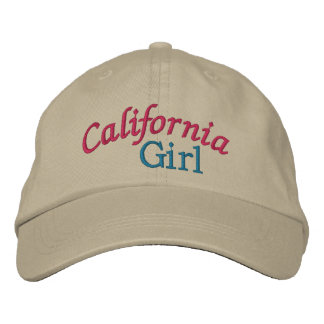 Casquillo - chicas de California Gorra De Beisbol Bordada