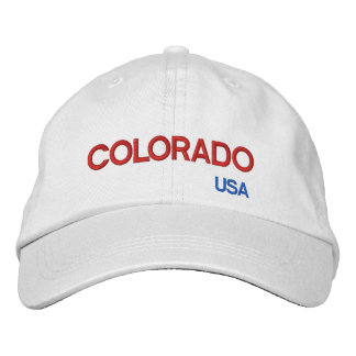 Casquillo colorido de Colorado* los E.E.U.U. Gorras De Béisbol Bordadas