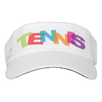 Casquillo colorido de la visera del tenis para el