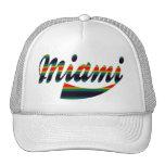 Casquillo colorido de Miami del arco iris Gorros Bordados