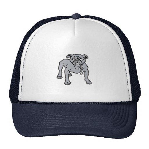 Casquillo con la impresión del dogo gris enojado gorras
