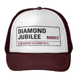 Casquillo conmemorativo del jubileo de diamante [p gorros bordados