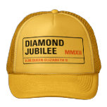 Casquillo conmemorativo del jubileo de diamante [p gorras de camionero