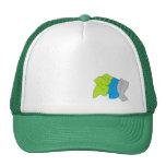 Casquillo de 3 colores gorra