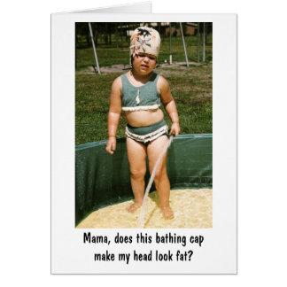 Casquillo de baño tarjeta de felicitación