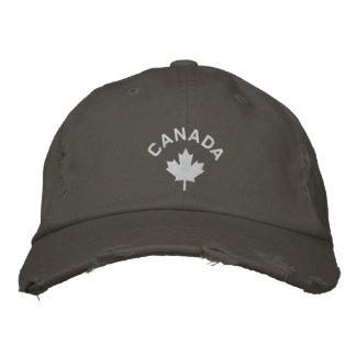 Casquillo de Canadá - gorra blanco de la hoja de a Gorros Bordados
