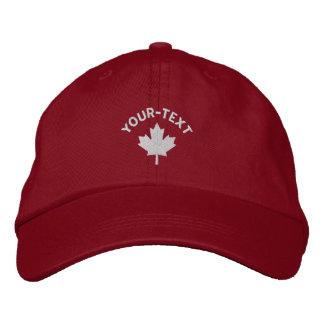 Casquillo de Canadá - gorra blanco de la hoja de a Gorras Bordadas