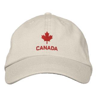 Casquillo de Canadá - gorra rojo de la hoja de arc Gorros Bordados