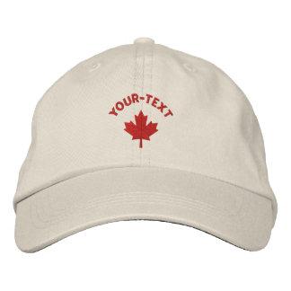 Casquillo de Canadá - gorra rojo de la hoja de arc Gorra Bordada