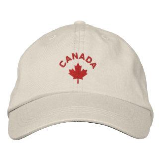Casquillo de Canadá - gorra rojo de la hoja de arc Gorra De Beisbol Bordada