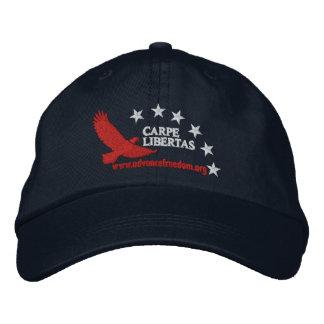 Casquillo de Carpe Libertas (agarre la libertad) Gorra De Beisbol