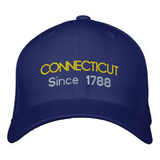 Casquillo de Connecticut desde 1788 Gorra De Beisbol Bordada