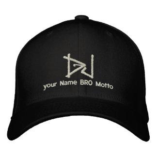Casquillo de DJ Personalizable su propio texto Bro Gorra De Beisbol Bordada