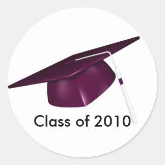 Casquillo de encargo de la graduación del KRW Pegatina Redonda