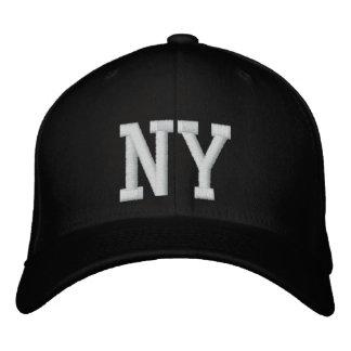 Casquillo de encargo de NY - blanco y negro Gorra De Béisbol