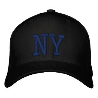 Casquillo de encargo de NY - negro y azul Gorros Bordados