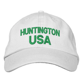 Casquillo de Huntington los E.E.U.U. Gorras De Béisbol Bordadas