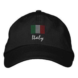 Casquillo de Italia - gorra italiano de la bandera Gorra De Béisbol Bordada