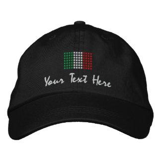 Casquillo de Italia - gorra italiano de la bandera Gorras De Béisbol Bordadas