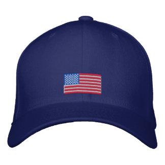 Casquillo de la bandera americana gorra bordada