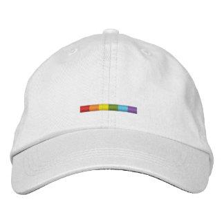 Casquillo de la barra del orgullo gay (raya sutil) gorra de béisbol bordada