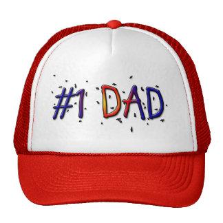 Casquillo de la bola del día de padre del papá #1 gorros bordados