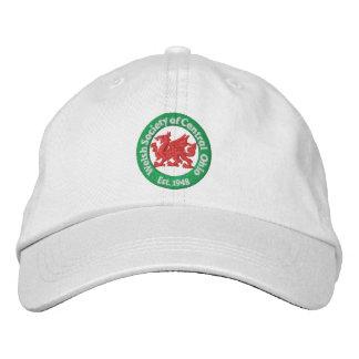 Casquillo de la bola del logotipo de WSCO - blanco Gorras De Béisbol Bordadas