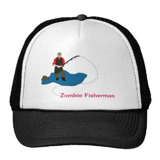 Casquillo de la bola del pescador del zombi gorras de camionero
