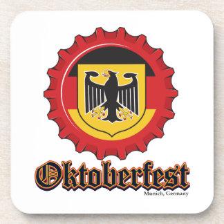 Casquillo de la botella de cerveza de Oktoberfest Posavasos De Bebidas