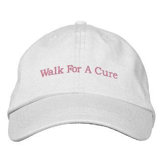 Casquillo de la conciencia del cáncer de pecho gorra bordada