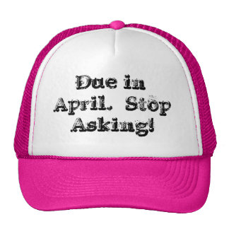 Casquillo de la deuda en abril gorros