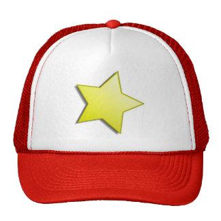 Casquillo de la estrella del oro gorro de camionero