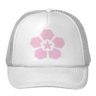 Casquillo de la flor de cerezo gorras
