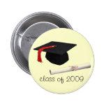 casquillo de la graduación, clase de 2009 pin