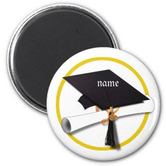 Casquillo de la graduación con el círculo del imán de frigorífico