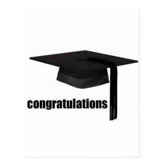Casquillo de la graduación de la enhorabuena postales