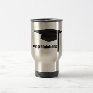 Casquillo de la graduación de la enhorabuena tazas de café