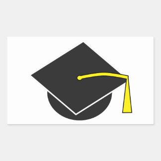 Casquillo de la graduación de la escuela/de la pegatina rectangular
