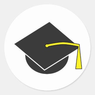 Casquillo de la graduación de la escuela/de la pegatina redonda