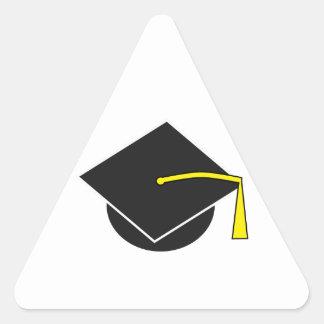 Casquillo de la graduación de la escuela/de la pegatina triangular