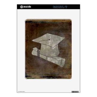 Casquillo de la graduación en el papel del vintage calcomanías para iPad