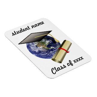 Casquillo de la graduación en la tierra iman flexible
