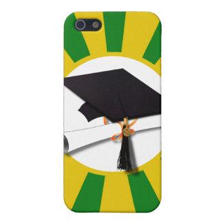 Casquillo de la graduación - la escuela colorea el iPhone 5 fundas