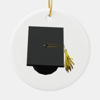Casquillo de la graduación ornamento de navidad