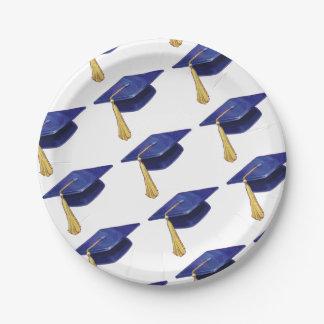 Casquillo de la graduación plato de papel 17,78 cm