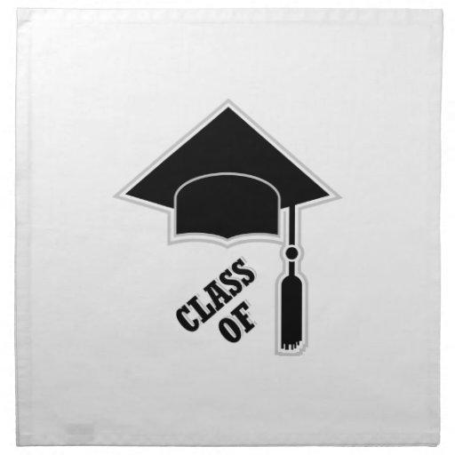 Casquillo de la graduación servilletas imprimidas