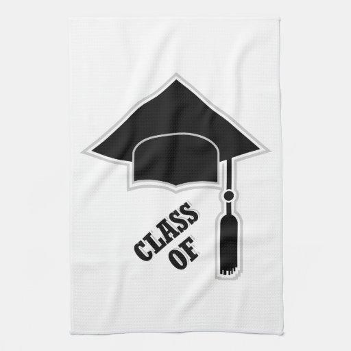 Casquillo de la graduación toallas